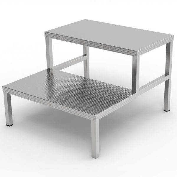 Double Step Stool For Operating Room Theatre Adexte