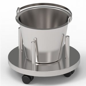 Bucket stand for operating theatre art 233226,