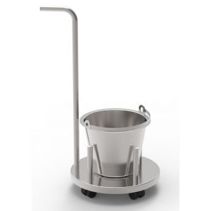 Bucket stand mobile with pushing handle art 233227