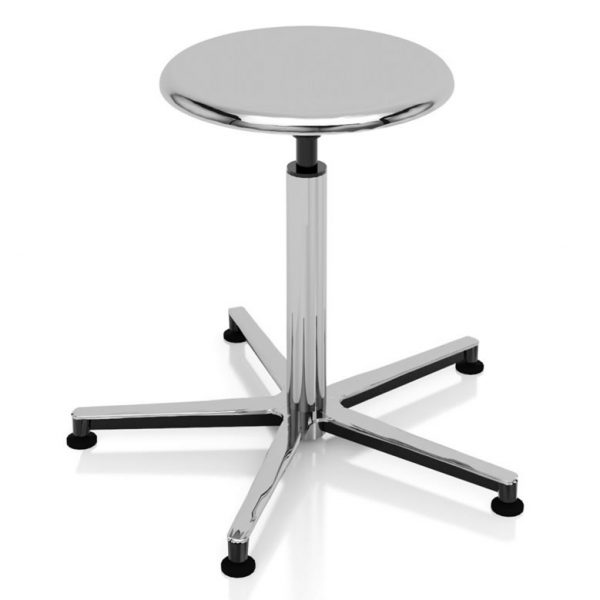 Examination room stool chrome-plated art 108318