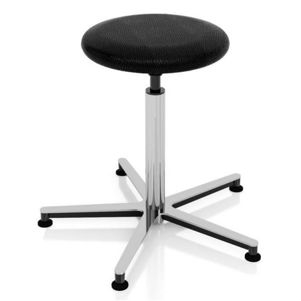 Examination room stool screw elevation art 108320 with round seat