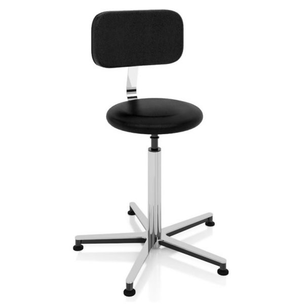 Examination room stool art 108326 with gas spring lify system, round seat and backrest