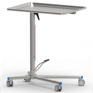 Mayo table art191108 with single acting high precision hydraulic pump and rotating table top features