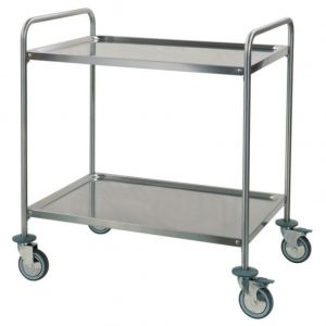 Tubular service trolley two shelves artt 233214-2 233215-2 233216-2 233217-2 233218-2 233219-2